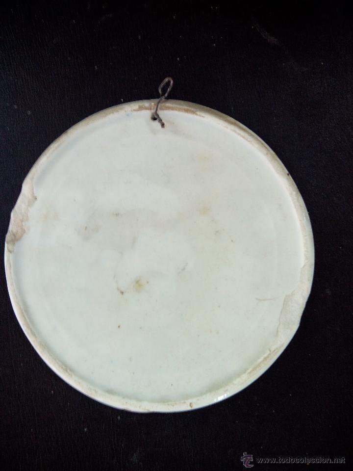 Antigüedades: antiguo plato de ceramica (alcora) - Foto 2 - 46870246