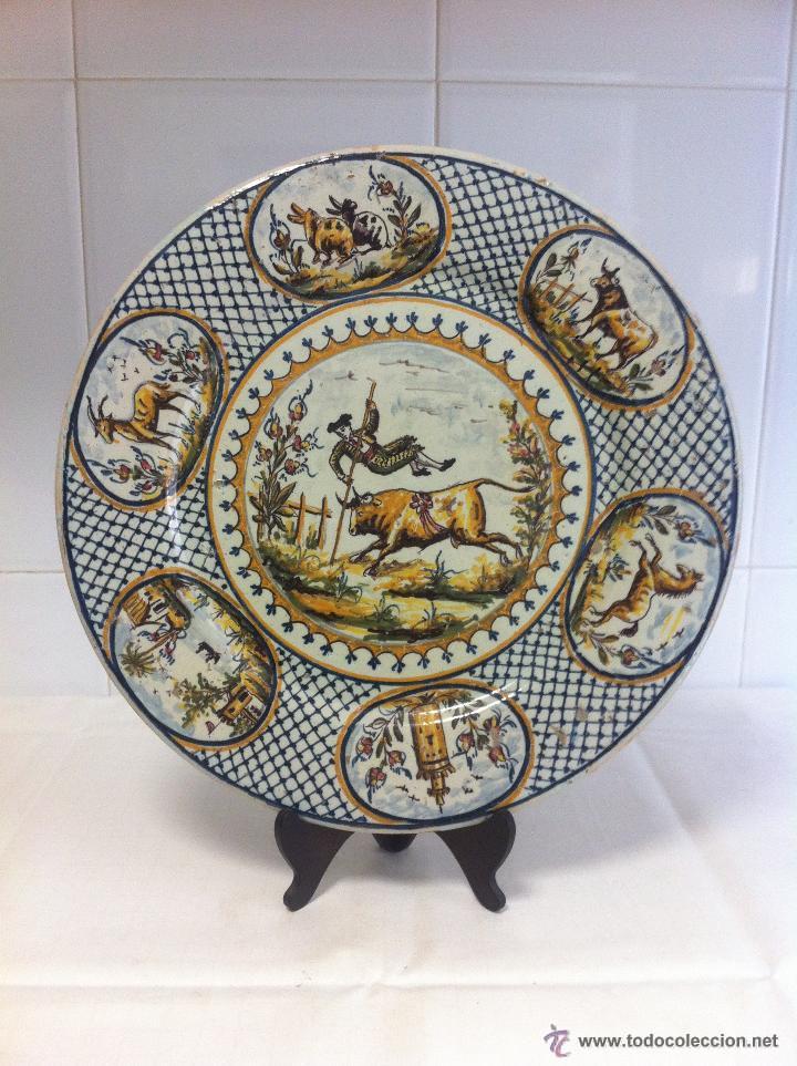 PLATO DE TRIANA DEL XIX (Antigüedades - Porcelanas y Cerámicas - Triana)