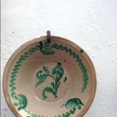 Antigüedades: ANTIGUO LEBRILLO PINTADO A MANO. Lote 46874994