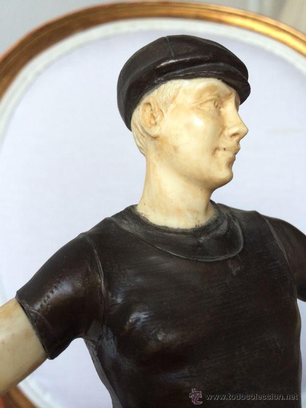 Antigüedades: PORTERO BRONCE-MARFIL-MARMOL PORTORO-INGLATERRA c.1920 - Foto 2 - 46884995