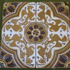Antigüedades: LOTE DE DOS AZULEJOS ANTIGUOS DE SEVILLA/TRIANA. CERAMICA ANTONIO VADILLO. AZULEJO.. Lote 46898213