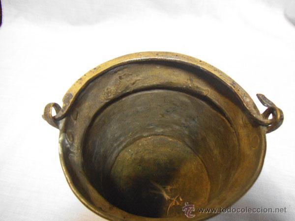 Antigüedades: BONITA CALDERA DE COBRE CON ASA DE METAL - Foto 4 - 46902799