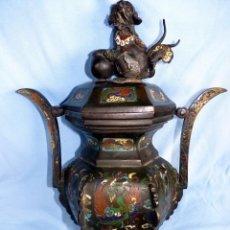 Antigüedades: MARAVILLOSO Y EXCLUSIVO JARRÓN CHINO S XVIII CLOISONNE. Lote 46903499