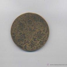 Antigüedades: ANTIGUA POLVERA DE BRONCE-AÑOS 20. Lote 46912496