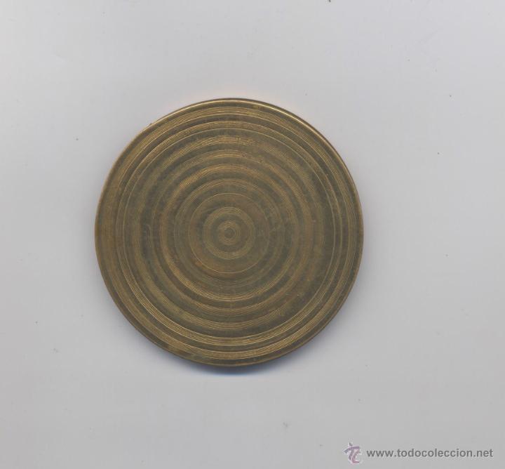 Antigüedades: ANTIGUA POLVERA DE BRONCE-AÑOS 20 - Foto 2 - 46912496
