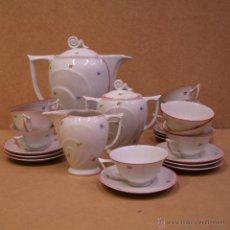 Antigüedades: JUEGO DE CAFÉ ART DECÓ EN PORCELANA CHECA.. Lote 46916619