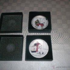 Antigüedades: LOTE DE 2 PISAPAPEL. Lote 46919212