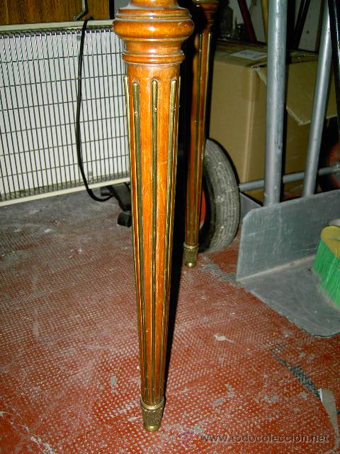 Antigüedades: Mesa de juego y comedor 3 tapas - nogal estilo Luis XVI - plegable bisagras especiales - Encargo - Foto 3 - 46940858