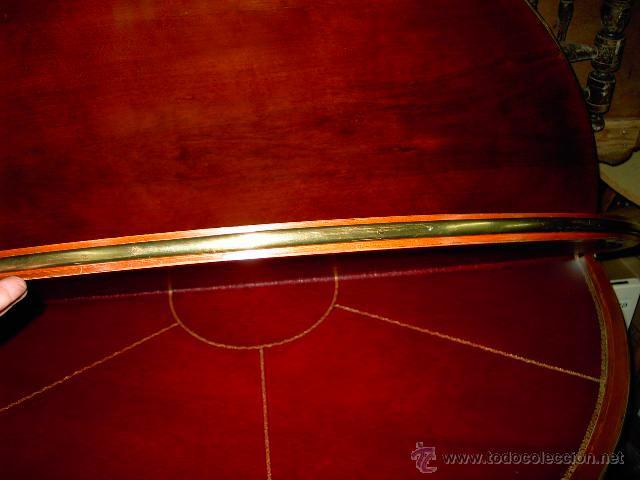 Antigüedades: Mesa de juego y comedor 3 tapas - nogal estilo Luis XVI - plegable bisagras especiales - Encargo - Foto 8 - 46940858