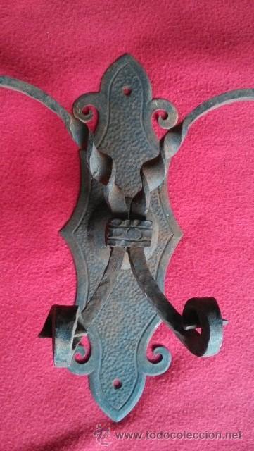 Antigüedades: ANTIGUO COLGADOR DE FORJA - Foto 2 - 46948505