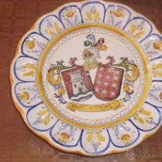 Antigüedades: PLATO HERALDICO DE TALAVERA . Lote 46954031