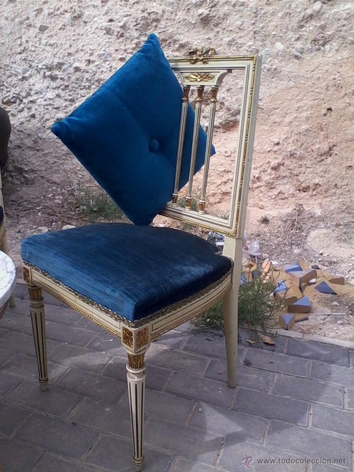 Antigüedades: Conjunto de mesa y dos sillas - Foto 2 - 46956010
