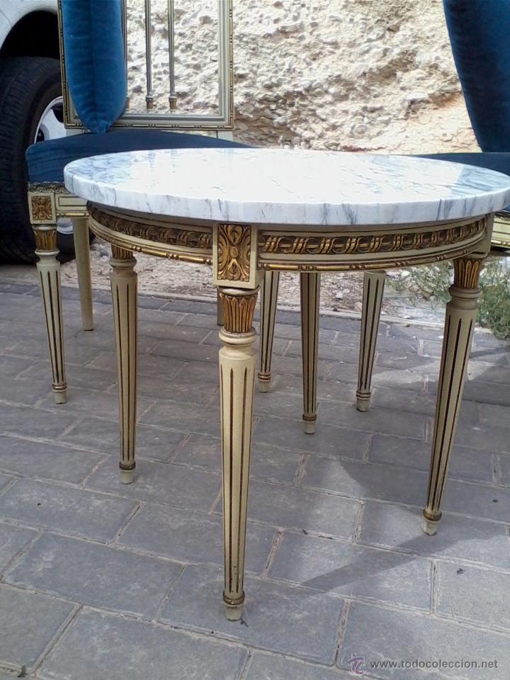 Antigüedades: Conjunto de mesa y dos sillas - Foto 3 - 46956010