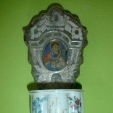 Antigüedades: PILA ANTIGUA BENDITERA S.XVIII CRISTAL DE LA GRANJA. Lote 46960399