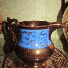 Antigüedades: PRECIOSA JARRITA DE PORCELANA DE REFLEJOS INGLESA. Lote 46970876