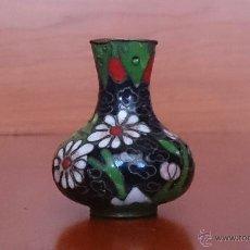 Antigüedades: JARRONCITO ANTIGUO CHINO EN CLOISONNE Y BRONCE .. Lote 46978407