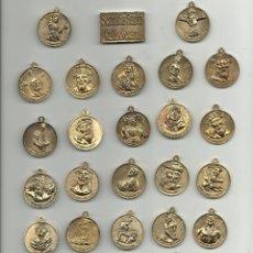 Antigüedades: COLECCION DE MEDALLAS Y PLACA DE LA SEMANA SANTA DE VALLADOLID VER FOTOS. Lote 46985015