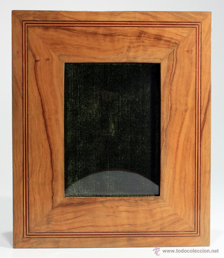 marco de madera de olivo con marquetería, con c - Comprar Marcos ...