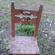 Antiquités: SILLA CON ASIENTO DE CUERDA. Lote 46991145
