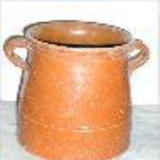 Antigüedades: OLLA , JARRA, PUCHERO DE BARRO ANTIGUA -ANTIGUO CON DOS ASAS. Lote 46997828