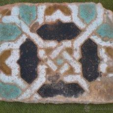 Antigüedades: AZULEJO ANTIGUO DE TOLEDO. TECNICA DE ARISTA. LACERIA ARABE/MUDEJAR. SIGLO XVI.. Lote 47010918