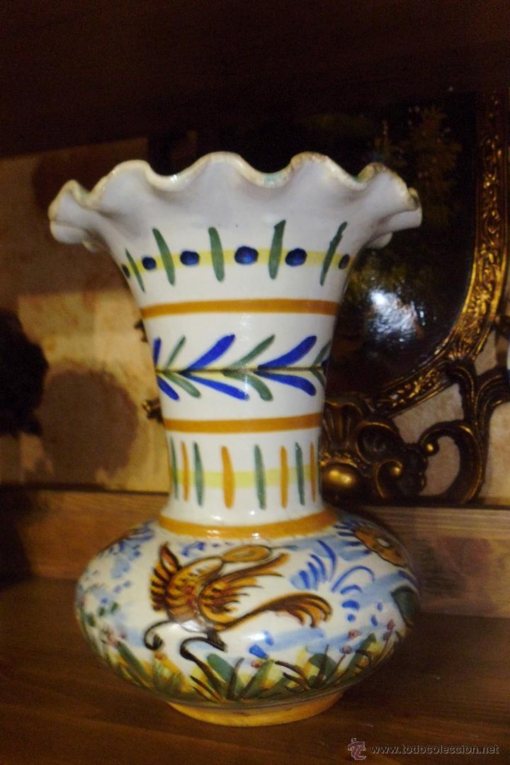 ANTIGUO JARRON DE CERAMICA SANTA ANA TRIANA. (Antigüedades - Porcelanas y Cerámicas - Triana)