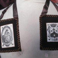 Antigüedades: PRECIOSO Y MUY ANTIGUO ESCAPULARIO, GRAN TAMAÑO.. Lote 253761895