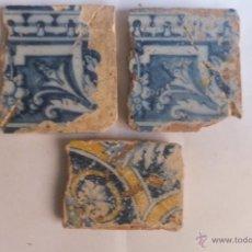 Antigüedades: AZULEJO RACHOLA TALAVERA DECORADO CON HOJAS Y ROLEOS S,M.S. XVI. Lote 47016045