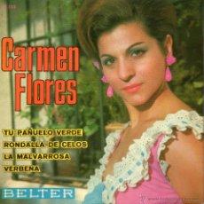 Discos de vinilo: CARMEN FLORES, EP, TU PAÑUELO VERDE + 3, AÑO 1967. Lote 47021195