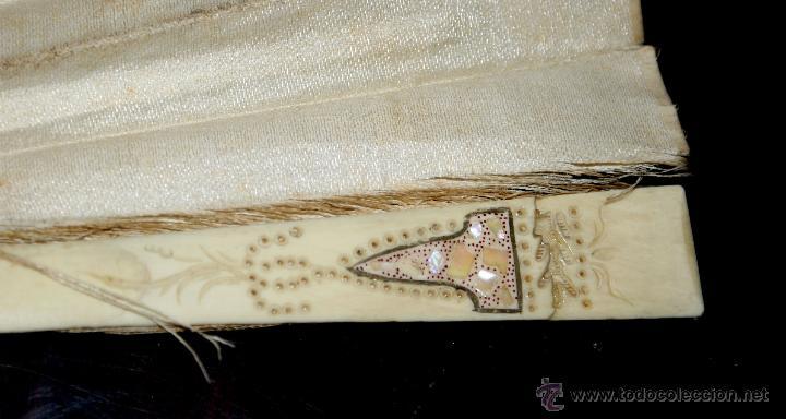 Antigüedades: ABANICO CON EL PÁIS EN SEDA PINTADA A MANO Y VARILLAS DE MARFIL - CIRCA 1880 - Foto 13 - 47024609