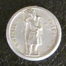 Antigüedades: MEDALLA DE ALUMINIO. S. RAFAEL A. RUEGA P.N. - SAN JUAN DE DIOS R.P.N. DIÁMETRO 2 CM. Lote 47033567