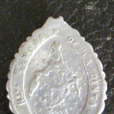 Antigüedades: MEDALLA DE ALUMINIO. NTRA. SEÑORA DE LA CINTA. SAGRAT COR DE JESUS, ORA PRO NOBIS. LONGITUD 3 CM. Lote 47033646
