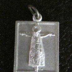 Antigüedades: MEDALLA DE ALUMINIO. STMO CRISTO DE LOS MILAGROS. HUESCA. 2,5 X 1,5 CM. Lote 47034355
