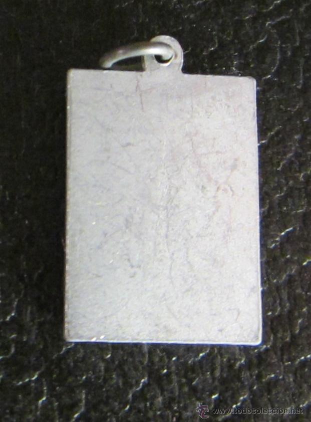 Antigüedades: MEDALLA DE ALUMINIO. STMO CRISTO DE LOS MILAGROS. HUESCA. 2,5 X 1,5 CM - Foto 2 - 47034355