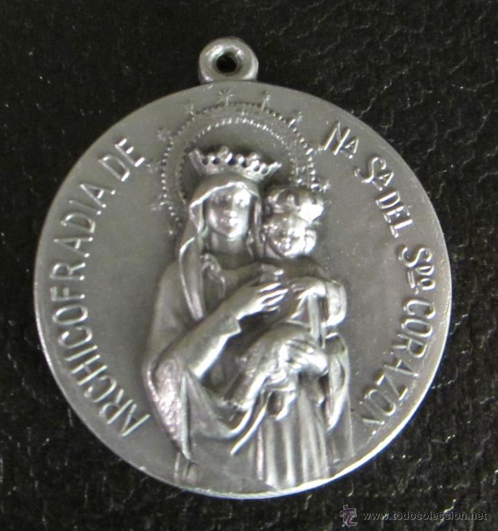 MEDALLA DE ALUMINIO. ARCHICOFRADÍA DE Nª Sª DEL SDO. CORAZON. DIÁMETRO 3,5 CM (Antigüedades - Religiosas - Medallas Antiguas)