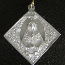 Antigüedades: MEDALLA DE ALUMINIO. PIA UNION DE NUESTRA SEÑORA DE LOS DOLORES. PARROQUIA DE SAN PEDRO. 3 X 3 CM. Lote 47041048
