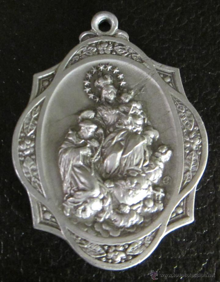 MEDALLA DE ALUMINIO. COFRADIA Y ASOCIACION DEL ROSARIO PERPETUO. FORMATO 3,5 X 5 CM (Antigüedades - Religiosas - Medallas Antiguas)