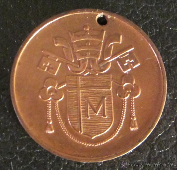 Antigüedades: MEDALLA DE JOANNES PAVLVS II. DIÁMETRO 3,5 CM - Foto 2 - 47042709