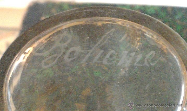 Antigüedades: ANTIGUO VASO DORADO DE BOHEMIA SOUVENIR DE VERNET LES BAINS FRANCIA - Foto 3 - 47045424