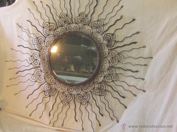 espejo de sol en hierro de forja antigedades muebles antiguos espejos antiguos
