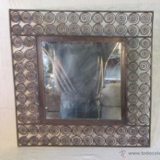 Antigüedades: ESPEJO EN HIERRO DE FORJA. Lote 47045912