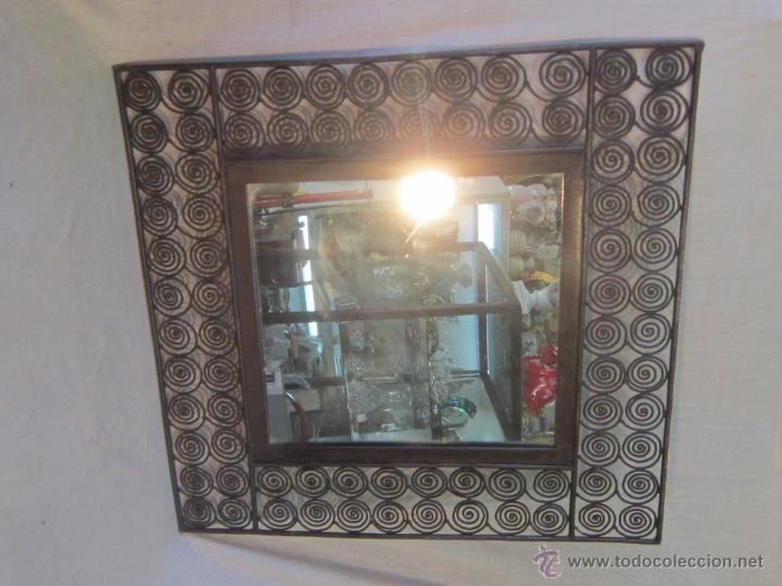 Antigüedades: ESPEJO EN HIERRO DE FORJA - Foto 2 - 47045912
