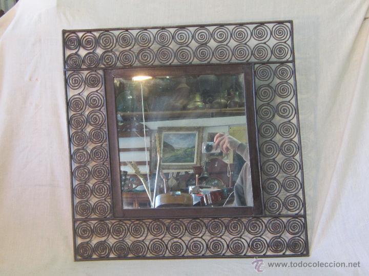Antigüedades: ESPEJO EN HIERRO DE FORJA - Foto 4 - 47045912