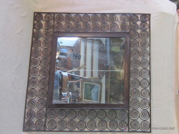 Antigüedades: ESPEJO EN HIERRO DE FORJA - Foto 5 - 47045912