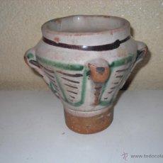 Antigüedades: MUY ANTIGUO MORTERO/ALMIREZ DE TERUEL DE TRES ASAS. Lote 47047592