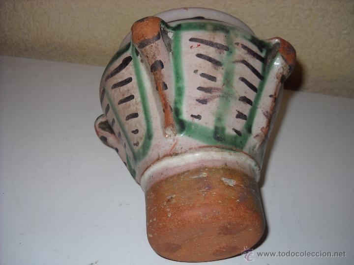 Antigüedades: Muy antiguo mortero/almirez de Teruel de tres asas - Foto 7 - 47047592
