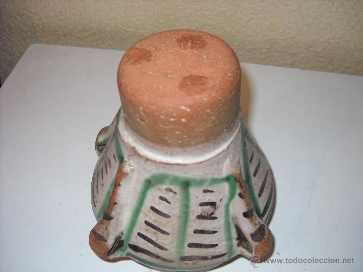 Antigüedades: Muy antiguo mortero/almirez de Teruel de tres asas - Foto 8 - 47047592