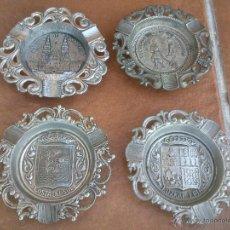 Antigüedades: LOTE CUATRO ANTIGUOS CENICEROS HIERRO COLADO.. Lote 47049267
