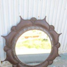 Antigüedades: ESPEJO EN HIERRO FORJADO. Lote 47061853