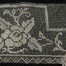 Antigüedades: ANTIGUO ENCAJE DE RED BORDADO CON HILO DE SEDA S. XIX. Lote 47072308